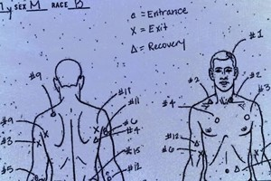 evidence sketch of police shooting