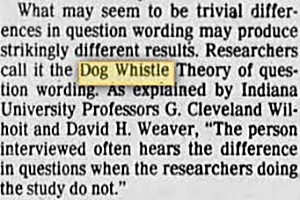 dog-whistle economics