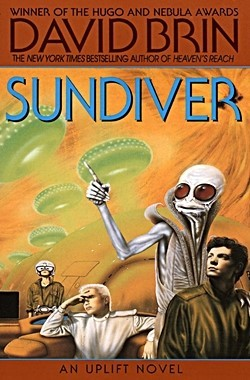 DAVID BRIN's Sundiver cover for 1980 original edition